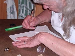 tekenen in opdracht. bij een schriftelijk consult