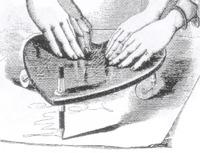 seance, automatisch schrift, planchette