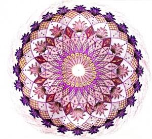 Kruin chakra kleurpotlood , mandala tekenen