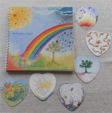 herinneringsboekje met hartekaartjes