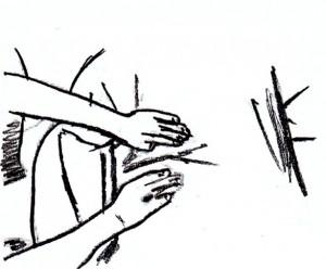 ademtherapie, adem-therapie, rebirthing, handpositie zijlings 3de chakra