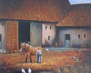 huisreiniging, boerderijreiniging, boerderij met paard