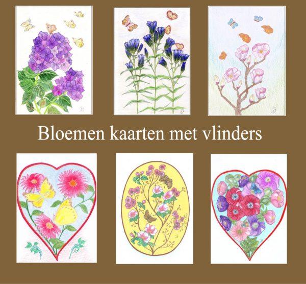 vlinders en bloemen tekenen