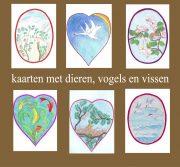 bloemen, dieren, vogels, vissen kaarten