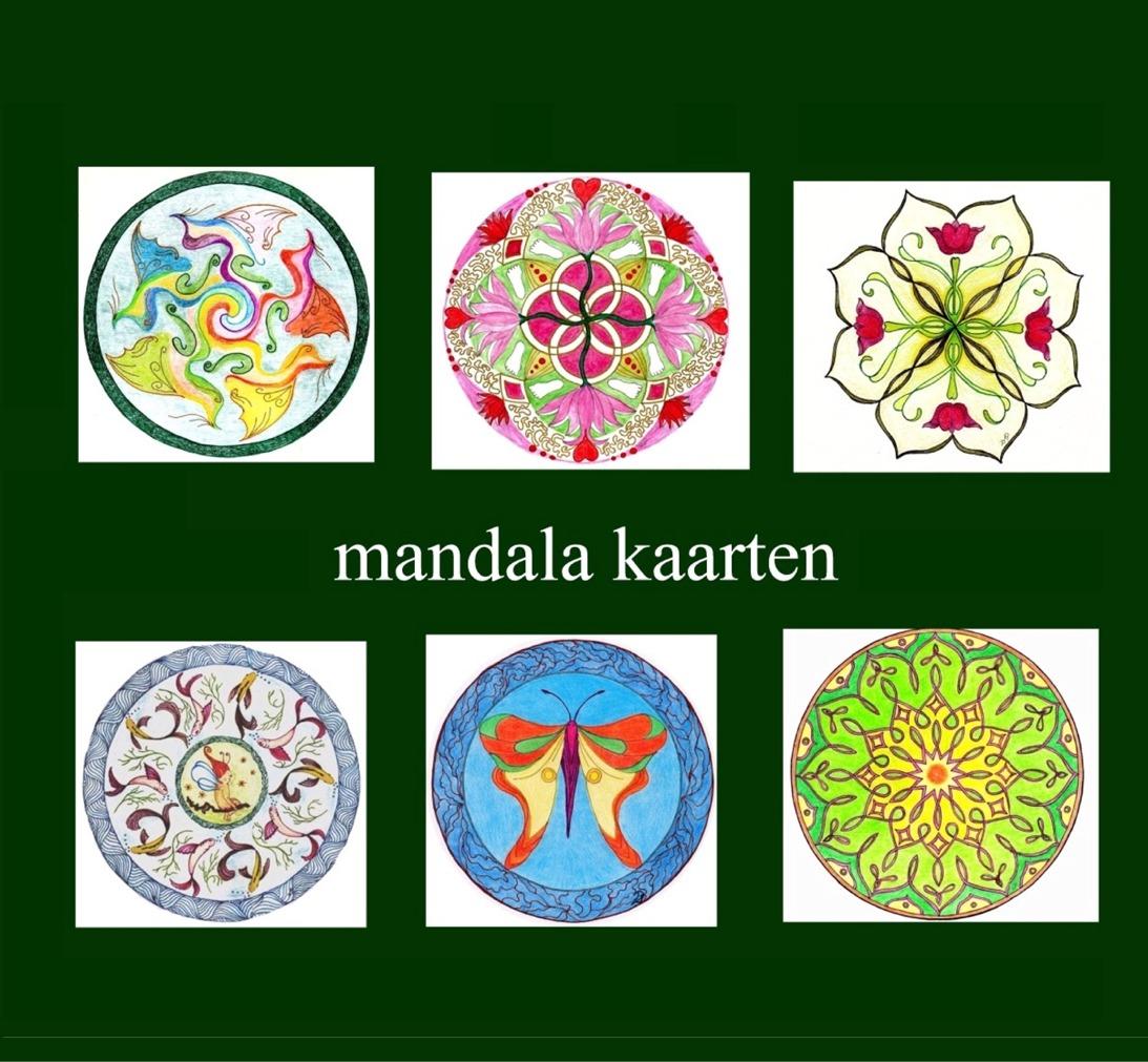 Mandala tekenen, vogels, vissen, fantasie