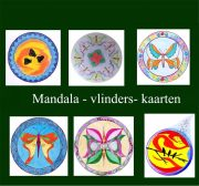 mandala tekenen, vlinders