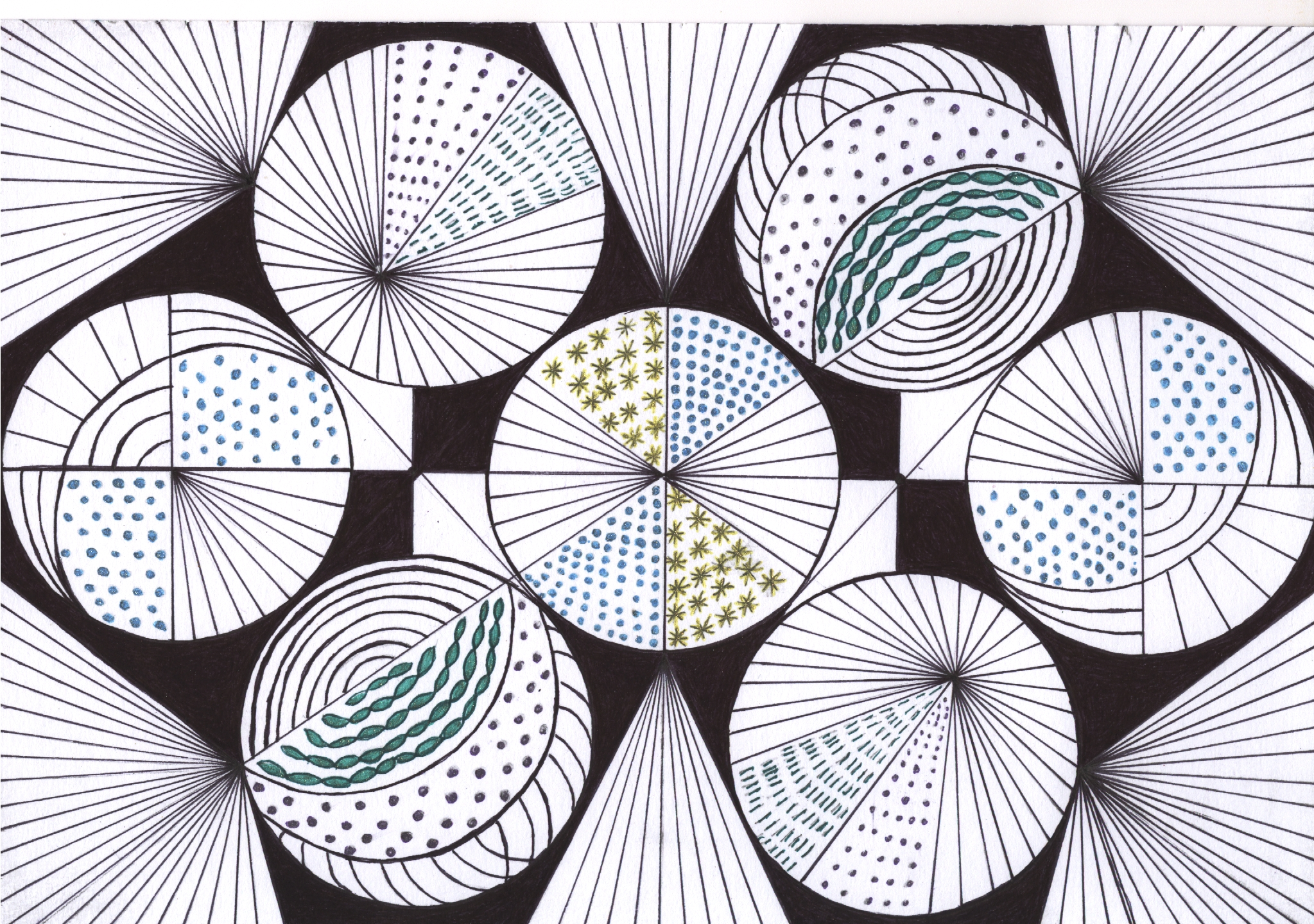 zentangle tekenen, vrije ontwerp zien wat het word