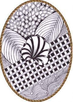 zentangle ovaal bloeminspiratie